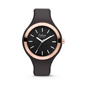Colori Horloge Macaron zwart-rosékleurig 44 mm 5-COL429