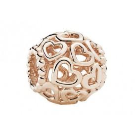 Pandora Rose Bedel zilver-rosékleurig Hartjes 780964