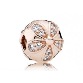 Pandora Rose Clip-Stopper bedel Dazzling Daisies zilver-rosékleurig 781493CZ