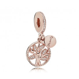 Pandora Rose Hangbedel zilver-rosékleurig Family Tree 781728CZ