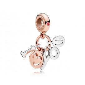 Pandora Rose Hangbedel zilver-rosékleurig I love you 786596CZR-2