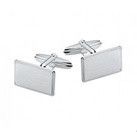 Manchetknopen Poli/mat Zilver Gerhodineerd Mat Glanzend 11,5 mm x 18,0 mm