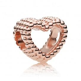 Pandora Rose 787516 Bedel Beaded Heart zilver rosékleurig
