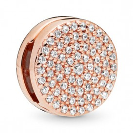 Pandora Rose Reflexions 787583CZ Bedel/Clip zilver rosekleurig Dazzling Elegance