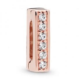 Pandora Rose Reflexions 787633CZ Bedel/Clip zilver rosekleurig Timeless Sparkle