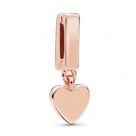Pandora Rose Reflexions 787643 Bedel/Clip zilver rosekleurig Floating Heart