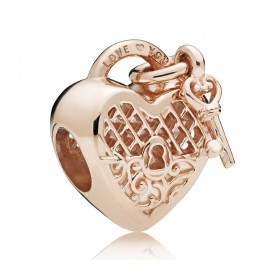 Pandora Rose 787655 Bedel zilver rosékleurig Love you Lock