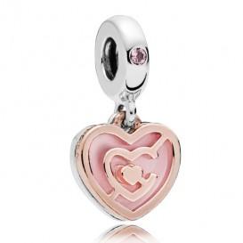 Pandora Rose 787801NBP Hangbedel zilver-rosékleurig Path to Love