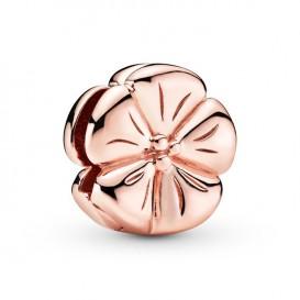 Pandora Rose Reflexions 787897 Bedel/Clip zilver rosekleurig Polished Flower