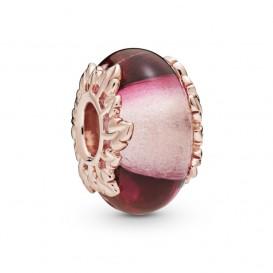 Pandora Rose 788244 Bedel Pink Muranoglass & Leaves