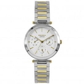Prisma Horloge P.1342 Dames Edelstaal Multi-Functie Saffier P.1342 Dameshorloge 1