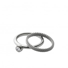 Skagen SKJ0835040 Elin ring met zirkonia Maat 53 is 17mm