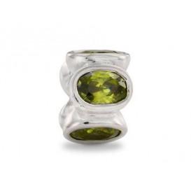 Pandora bedel zilver 'Groene zirkonia' 790311GCZ