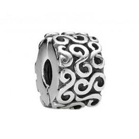 Pandora bedel Clip-stopper zilver 'Krulletjes' 790338