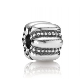 Pandora Bedel Clip-stopper zilver 'Parelrand' 790446