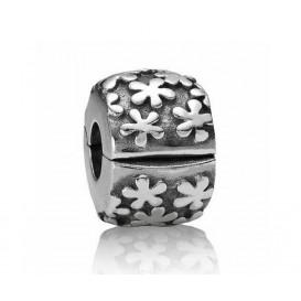 Pandora bedel Clip-stopper zilver 'Bloemen' 790533
