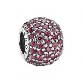 Pandora Bedel zilver rood 791051CZR
