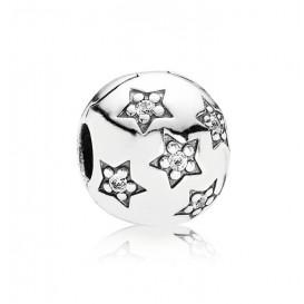 Pandora Bedel Clip-stopper zilver 'Sterretjes' 791058CZ