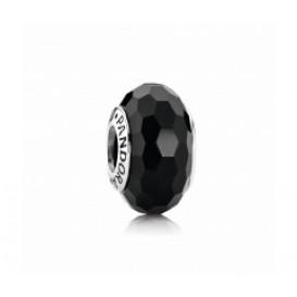 Pandora bedel Muranoglas zilver 'Zwart' 791069
