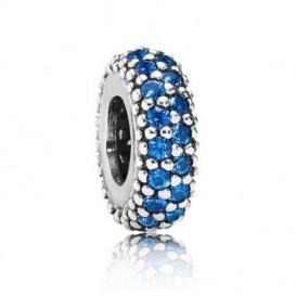 Pandora 'Spacer bedel' zilver 'Blauw' 791359NCB