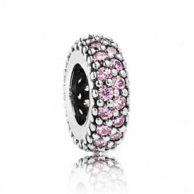 Pandora Spacer bedel zilver 'Roze' 791359PCZ