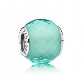 Pandora bedel Muranoglas zilver 'Mintgroen' 791499SGQ