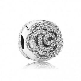 Pandora bedel Clip-stopper zilver 'Glinsterende Roos' 791529CZ