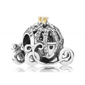 Pandora Disney Bedel zilver/goud Assepoester's Pompoenkoets 791573CZ