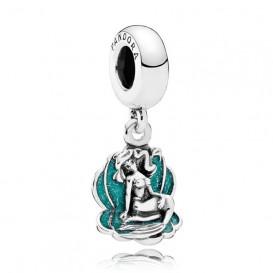 Pandora Disney Hangbedel zilver Ariel en Zeeschelp 791895EN111