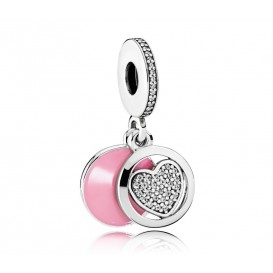 Pandora hangbedel zilver Heart Dangle 792149EN24