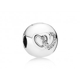 Pandora Clip-Stopper bedel zilver Interlocked Hearts 792150CZ