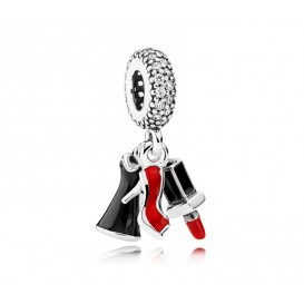 Pandora hangbedel zilver Shoe, Dress and Lipstick 792156ENMX