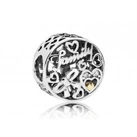 Pandora Bedel zilver-goud Familie 796267CZ