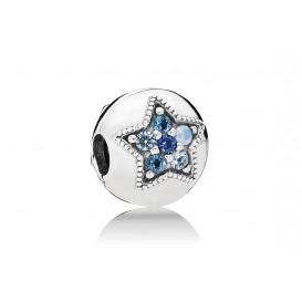 Pandora Bedel clip/stopper zilver Bright Star 796380NSBMX