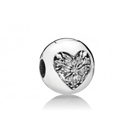 Pandora Bedel clip/stopper zilver Heart of Winter 796388CZ