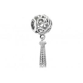 Pandora Hangbedel zilver Heart Tassel 797037