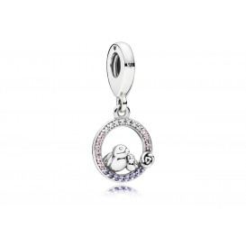 Pandora Hangbedel zilver Mother and Baby Bird 797060NPRMX