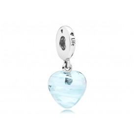 Pandora Hangbedel zilver Blue Ribbon Heart 797142