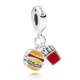 Pandora 797211ENMX Hangbedel Burger and Fries zilver