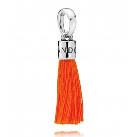 Pandora Hangbedel zilver Orange Tassel 797212COE