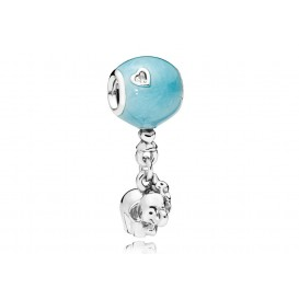 Pandora Hangbedel zilver Elephant and Blue Balloon 797239EN169