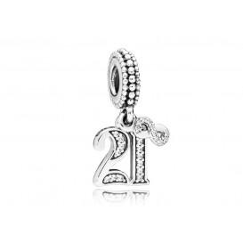 Pandora Hangbedel zilver 21 Years of Love 797263CZ