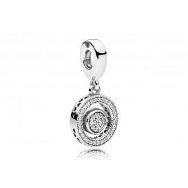 Pandora Hangbedel zilver Spinning Signature 797430CZ-1
