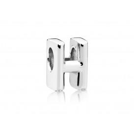 Pandora Bedel zilver Letter H 797462