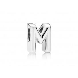 Pandora Bedel zilver Letter M 797467