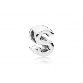 Pandora Bedel zilver Letter S 797473