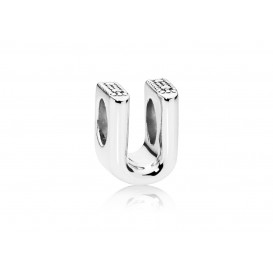 Pandora Bedel zilver Letter U 797475
