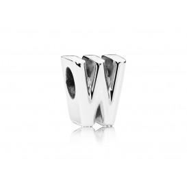 Pandora Bedel zilver Letter W 797477