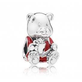 Pandora 797564ENMX Bedel zilver Christmas Teddybear
