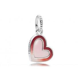 Pandora 797820ENMX Hangbedel zilver Asymmetric Heart of Love